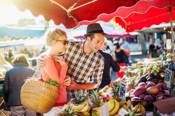 Image result for farmers market couple date