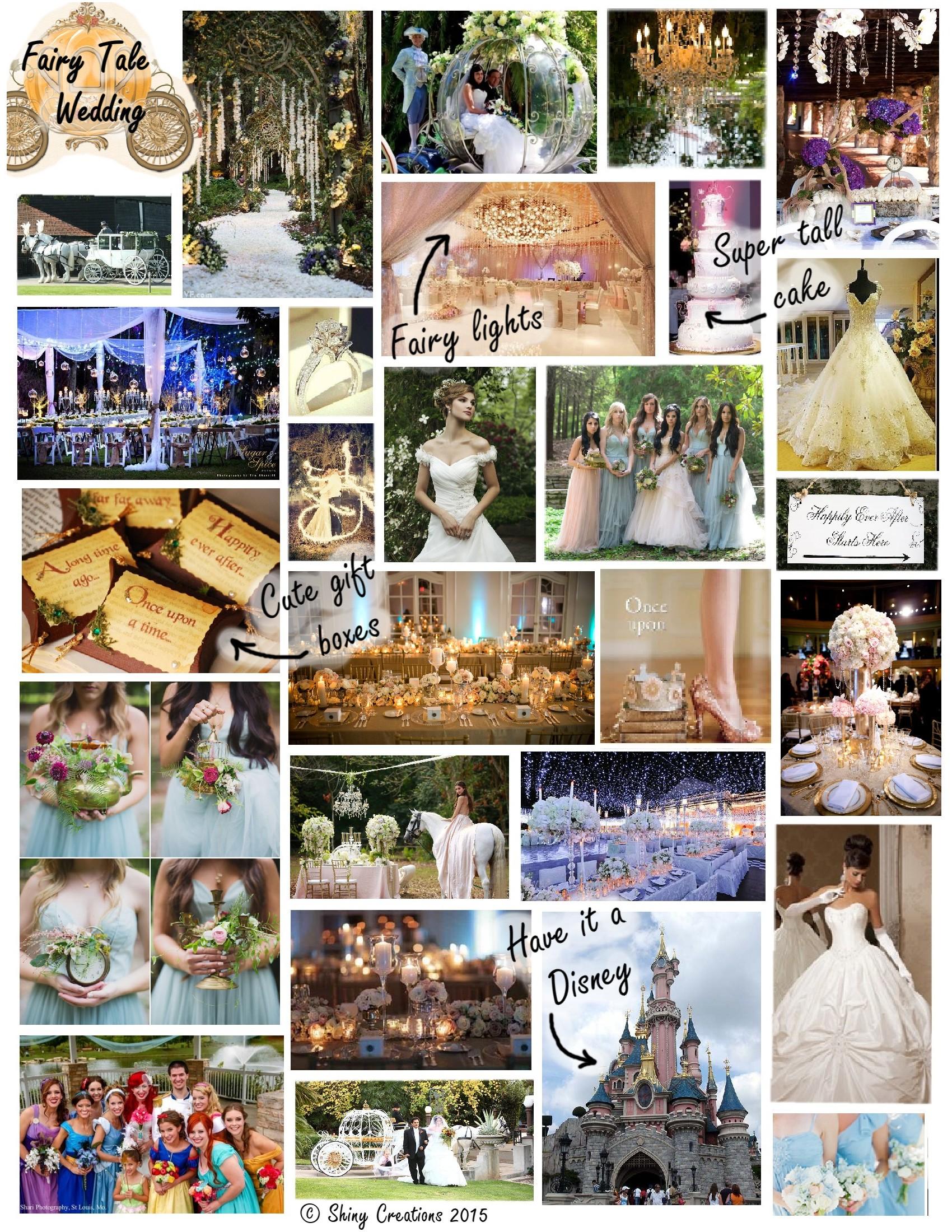 Fairytale wedding board