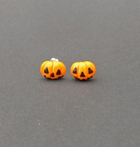 Halloween, spooky, creepy, cute, trick or treat, horror, handmade, novelty, season, kitsch, fan, jewellery, accessories, quirky, pumpkin, jackolantern, candy corn, skull, mini, stud, earrings, set,