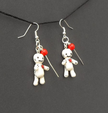 Halloween, spooky, creepy, cute, trick or treat, horror, handmade, novelty, season, kitsch, fan, jewellery, accessories, quirky, voodoo, doll, pin, ragdoll, earrings