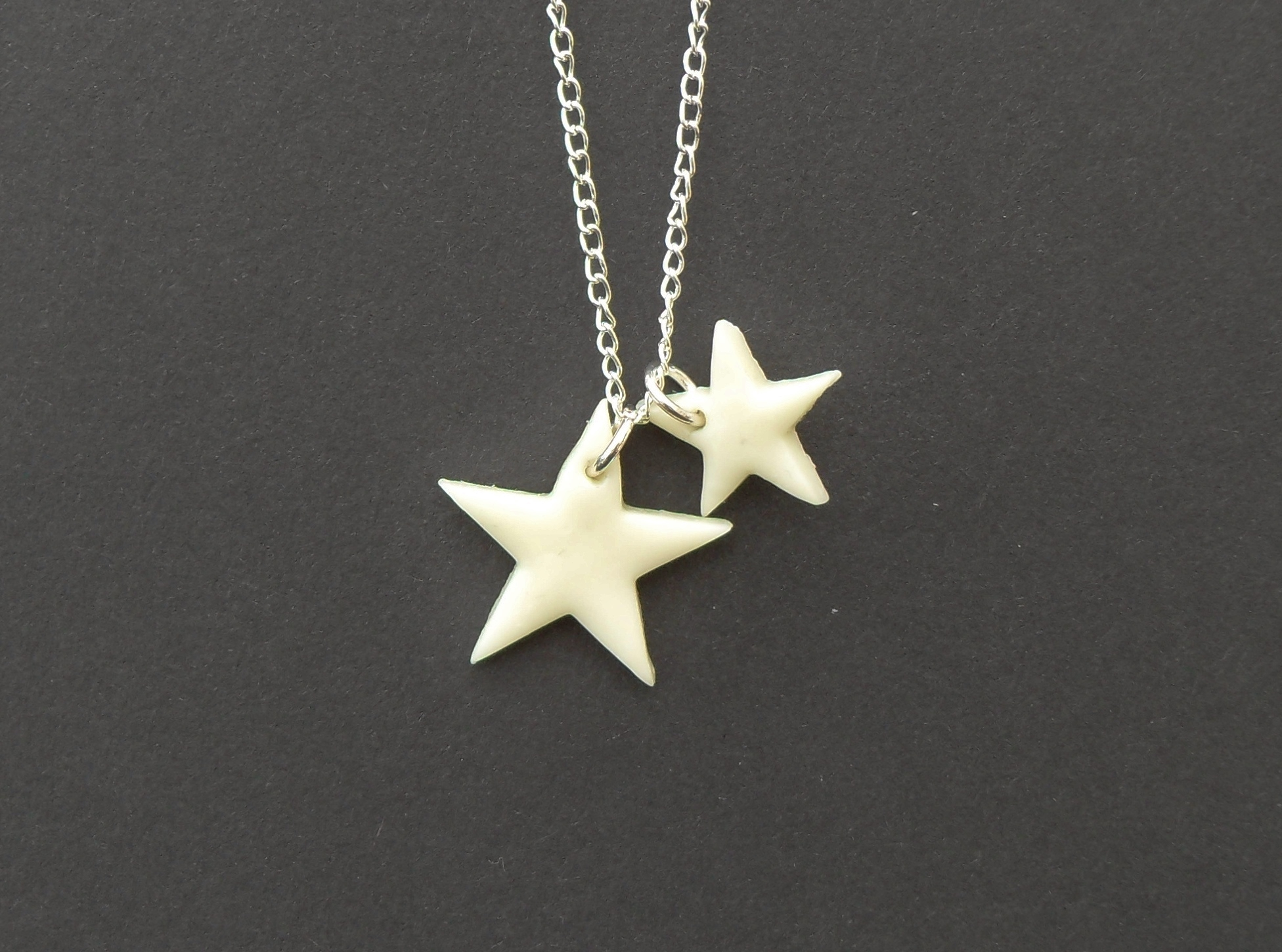 Halloween, spooky, creepy, cute, trick or treat, horror, handmade, novelty, season, kitsch, fan, jewellery, accessories, quirky, glow in the dark, aluminous, star, charm, necklace,