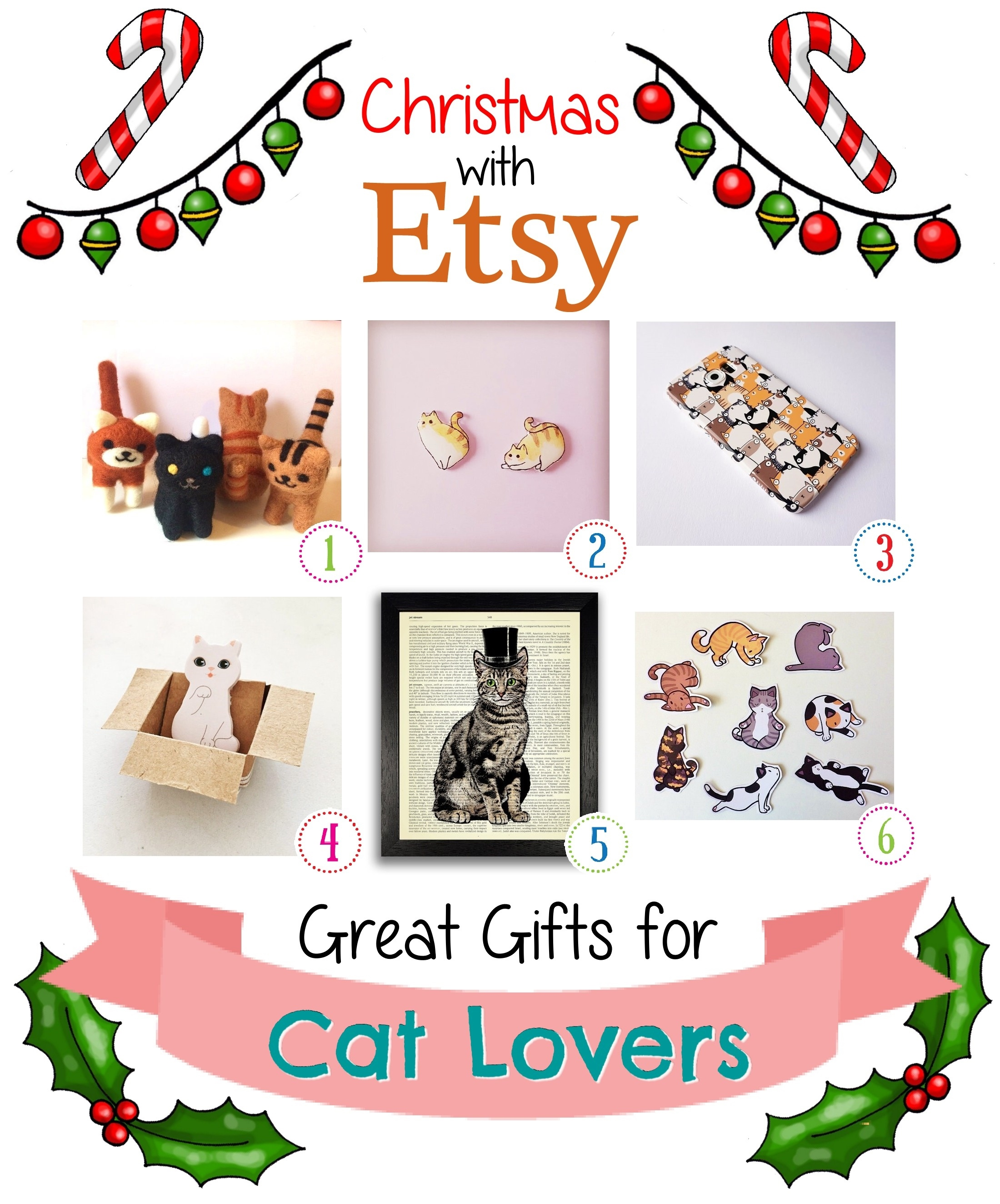 christmas with etsy gifts for cat lovers