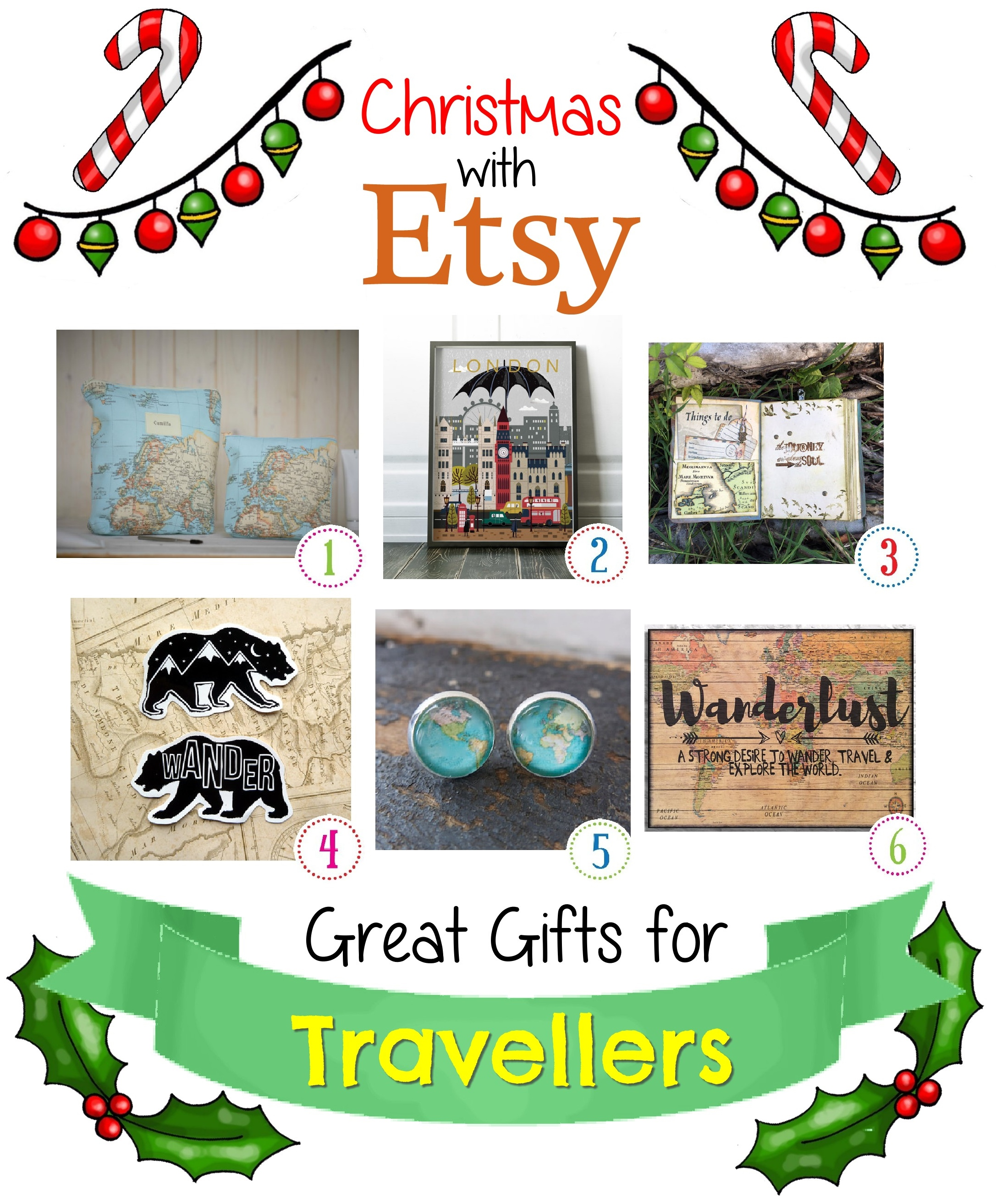 Etsy christmas gifts for travel lovers shinycreations for Christmas gifts for travelers