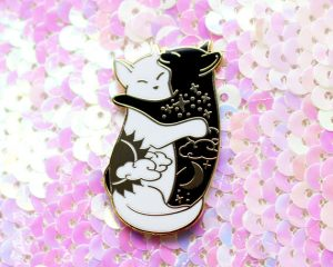 Pop Culture Pins we want, Enamel, pins, colourful, cute, quirky, art, craft, Etsy, funny, fashion, style, accessories, badges, pop culture, wish list, shop, shopping, llama, VW van, pen, cat lady, craft, artist, scissors, comic book, terrarium, cacti, cats, yin & yang, Shiny Creations, Shiny,