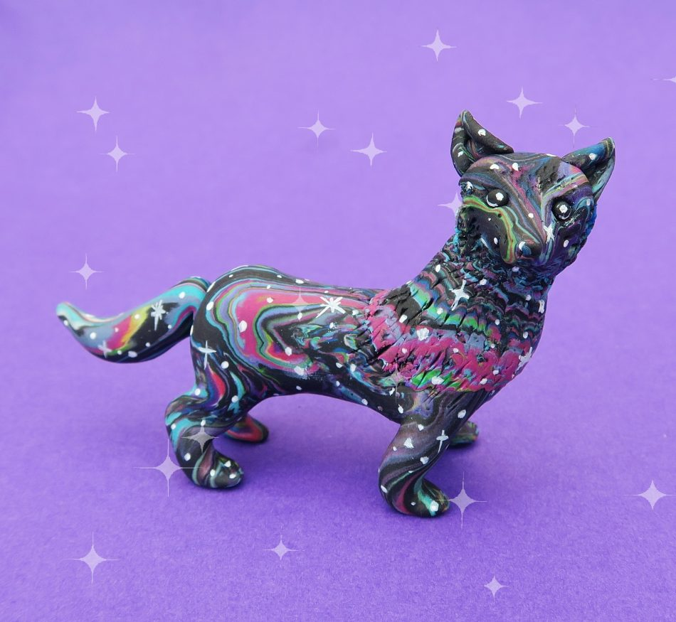 Spirit animal, spirit animals, totem, patronus, spirit guide, figure, figurine, cute, mystical, mythical, magical, spiritual, Native American, novelty, gift, handmade, fimo, polymer clay, animal lovers, mini, miniature, pets, ornament, tiny, wolf, wolves,