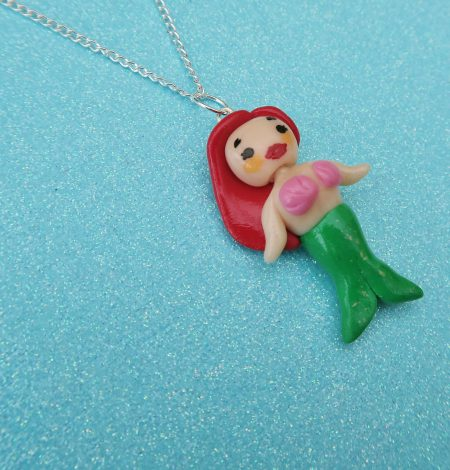 mermaid, mermaids, magical, magic, mythical, myth, mythic, glitter, shiny, cute, kawaii, chibi, sealife, ocean, Pearl, Ariel, Coral, Lorelei, Fimo, polymer clay, handmade, kitsch, novelty, quirky, jewellery, jewelry, accessories, fashion, style, necklace, charm,